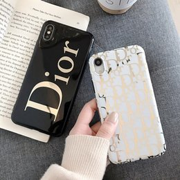 $enCountryForm.capitalKeyWord Australia - Wholesale luxury designer phone case plating gold For iphone xs max 6 7 8 plus high quality Cell phone cover stunk drop shipping
