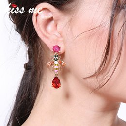 $enCountryForm.capitalKeyWord Australia - Women Earrings Hand Made Fashion Resin Crystal Water Insect Drop Earrings Korean Jewelry Accessories