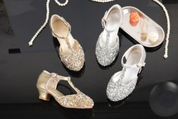 $enCountryForm.capitalKeyWord Australia - Lovely Gold Silver Flower Girls' Shoes Kids' Shoes Girl's Wedding Shoes Kids' Accessories SIZE 26-37 S321032