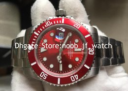 mens sapphire crystal sport watches Australia - Top Quality Mens Automatic Japan Miyota Movement Watch Men Red Dial Dive Chronometer Crystal Full Steel Watches Sport 116610 Wristwatches