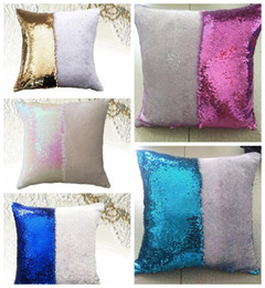 $enCountryForm.capitalKeyWord Australia - Two-tone sequined pillow color-changing pillow mermaid Pillowcase 40*40cm Throw Cushion Living Room Bedroom Sofa Decor Cover Lumbar Case