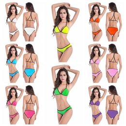$enCountryForm.capitalKeyWord NZ - Sexy Trangle Swimwear Bikini Womens Halter Bikinis Set Push-up Swimsuits Secret Bathing Suits Agent Provocateur Bikini J190331