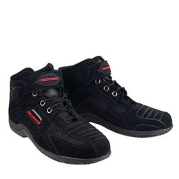 Wholesale Spring Summer New Motorcycle Boots ventilate Knight Riding Shoes Breathable Mesh motorbike boot Reflective