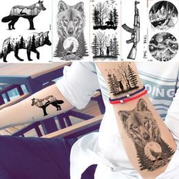 817240a702d29 Tattoos Wolves Canada - YURAN Men Fashion Black Tattoo Stickers Little Peak Wolf  Temporary Tattoo Women