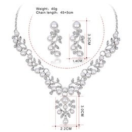 $enCountryForm.capitalKeyWord NZ - Bridal Necklace Earrings Two Piece Set Rhinestone Bridal Set Necklace Wedding Jewelry Wedding Accessories hair accessories for women jmmiki