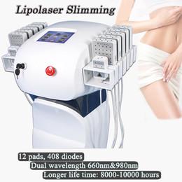 Fat reduction machines online shopping - Manufacturer Dual Wavelength Lipolaser slimming machine lipo Fat Reduction Weight laser slimming systems non invasive painless treatment