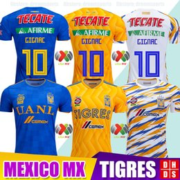 3865afd8b87 Tigres uanl shirTs online shopping - Thialand Maillot Club Tigres UANL  soccer Jerseys Home Yellow Third