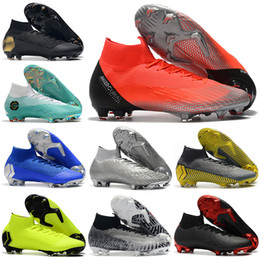 Cr7 Ronaldo Boots Australia - Mens High Tops Football Boots Superfly 6 Elite FG Soccer Shoes Cristiano Ronaldo CR7 Mercurial Superfly VI 360 Neymar ACC Soccer Cleats