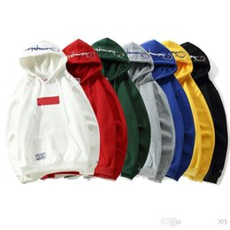 New treNd hoodies online shopping - New brand designer hoodie Suprême joint Champions embroidery hoodeds trend fashion women men sweatshirt classic luxury sweater loose casual