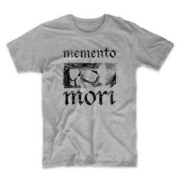 Wholesale Memento Mori Latin Quote Skull Men s T Shirt Medium Grey Gray