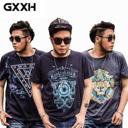 mens shorts 7xl Australia - Gxxh Oversized Men Store Large Size Men's Short Sleeves Printed T Shirts Male Loose Fat Guy Summer Big Size Mens Clothes 6xl 7xl Y19060601