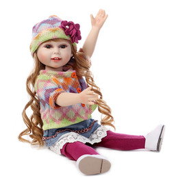 Real Girls Toys Australia - 18 In 45cm American Girl Doll With Clothe Shoe Suit Real Lifelike Soft American Girl Doll Toy For Girl Birthday Christmas Gift LE004