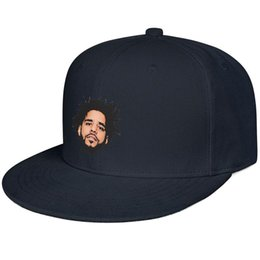 J hats online shopping - Face Cool J Cole Snapback Flat Cap Outdoor All Cotton Caps Relaxed Unisex Mens Womens Hat