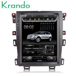 "Mobile Edge Australia - Krando android 6.0 12.1"" Tesla Vertical screen car dvd radio player GPS for FORD EDGE 2009-2014 navigation multimedia system A C Bluetooth"