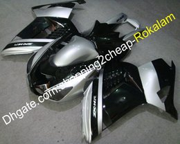 Black Body Molding Australia - ZZ-R1400 Black Silver Fairing Fitting For Kawasaki Ninja ZX14R 2006-2011 ZX-14R ABS Body Cowling Kit (Injection molding)