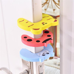 Door Holder Stops Australia - New Care Child kids Baby Animal Cartoon Jammers Stop Door stopper holder lock Safety Guard Finger 7 styles ST413