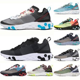 $enCountryForm.capitalKeyWord Australia - React Hot Element 87 Running Shoes For Men Women Black Dark Grey Royal Tint Sail Total Orange Desert Sand Mens Trainer Sports Sneakers