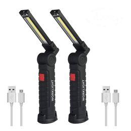 $enCountryForm.capitalKeyWord Australia - ZHISHUNJIA USB Charging Lamp COB Portable Flashlight Magnetic Base Lamp 2 PCS