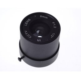 "cctv camera 8mm lens UK - Free shipping Wholesale CCTV CS LENS 8mm 40degrees 1 3"" F1.2 CCTV Fixed Iris IR Infrared CS Mount Lens For Security CCTV Camera"