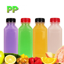 $enCountryForm.capitalKeyWord Australia - Scrub Bottle Empty Clear Plastic Juice Bottles Milk Bottles wirh multicolor lid option Great for Storing Homemade Juices