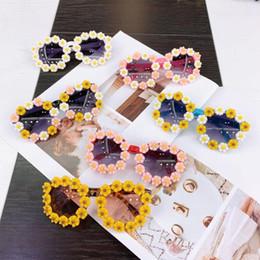 Nuevos YEABIU Al por mayor gafas de sol del bebé linda margarita para la decoración al aire libre Foto Chilren Niños Lentes Gafas de sol para niñas en venta
