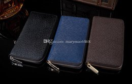 $enCountryForm.capitalKeyWord NZ - Hot Wholesale famous brand fashion mens wallet single zipper cheap luxury designer Genuine Leather long purse card Holders clutch bag wallet