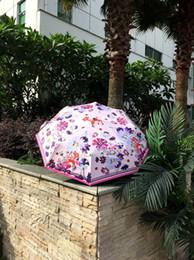 $enCountryForm.capitalKeyWord Australia - Black Coating Tri-mini Forest Fawn Full Automatic Foldable Sunshade UV Protection Zero Light Sun And Rain For Woman