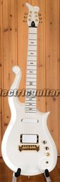Wholesale Super Rare Prince Cloud Sparkle Pearl White Electric Guitar Alder Body Maple Neck Black Symbol Inlay Wrap Around Tailpiece White Pickups