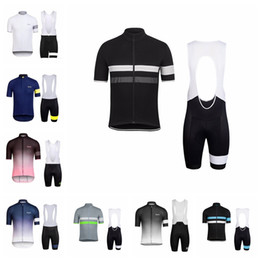 men short suit set UK - RAPHA team Cycling Short Sleeves jersey bib shorts sets Men's wear-resistant windproof breathable summer outdoor sports Jersey suit S61251
