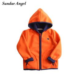Angels Jackets NZ - Sundae Angel Children Jacket Girls Boy Hooded Embroidery Girl Outwear Coats Autumn Polar fleece Kids Coats Jackets Girl Clothes