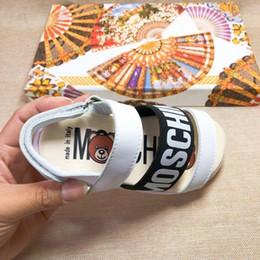 Kids Slide Sandals Australia - kids designer boys girls sandals cartoon letter print fashion toddler shoes Boy Girl rubber summer sole Non-slip beach Slide Sandal