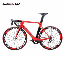 18 Inch Wheel Bikes Australia - New Technology AEROMACHINE MONOCOQUE one piece Full Carbon Road Complete Bike Road Bicycle Frame wheels R8000 Groupset