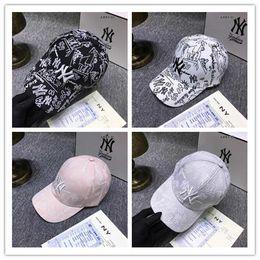 Blue Ny Hat Australia - 2019 New Unisex NY baseball cap men women adjustable snapback hats LA sport outdoor headwears hip hop flat bell hat free ship