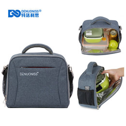 Picnic Ice Packs Australia - Waterproof Picnic Shoulder Bags Bento Tote Cooler Bag For Drink Fruit Fresh Insulation Thermal Bag Ice Pack Therma A226