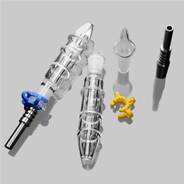 $enCountryForm.capitalKeyWord UK - Clear Coil Bong Water Pipe Octopus Design 14mm Mini Nectar Collecter Kit W Titanium Nail 14mm Glass Water Pipes