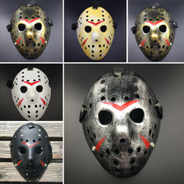 Full latex costumes online shopping - Horror Cosplay Costume Friday the th Part Jason Voorhees Piece Costume Latex Hockey Mask Vorhees