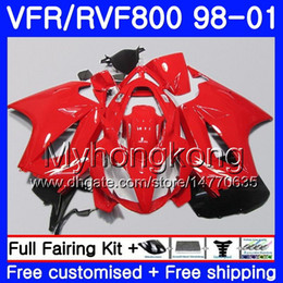 honda vfr interceptor fairings Australia - Body For HONDA Interceptor VFR800R VFR800 Gloss red hot 1998 1999 2000 2001 259HM.45 VFR 800RR VFR 800 RR VFR800RR 98 99 00 01 Fairing kit
