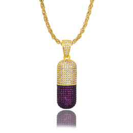 $enCountryForm.capitalKeyWord Australia - Hot style west hip hop necklace micro zircon medicine capsule pendant manufacturers direct sales wholesale and retail