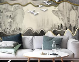 $enCountryForm.capitalKeyWord Australia - 3d wallpaper custom mural silk wall sticker 3 d TV setting wall fashion Stereoscopic 3D new Chinese TV photo 3d wall murals wallpaper