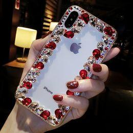 $enCountryForm.capitalKeyWord UK - Phone Case For Iphone 6 6S 7 8 Plus X XS MAX XR Samsung S10 Plus S9 Note9 8 Luxury Rhinestones Diamond Glitter Phone Case Cover With Lanyard