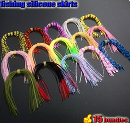 Bass Fishing Lures Spinners Australia - Fishing Lures 2017 silicone skirts with rattle collar total 15 bundles lot the length is 13cm spinner bait bass lure balde