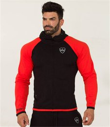 Wholesale slim fit hoodie zip up online – oversize New Style Muscle Fitness Brothers Men s Zip up Jacket Slim Fit Running Sports Hoodie Joint Set Sports Clothing