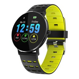 touch watches for men UK - Fitness Tracker for Men Women Sport Work - L6 1.22Inch Color Full Touch Screen IP68 Waterproof Heart Rate Monitor Smart Watch