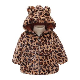 $enCountryForm.capitalKeyWord Australia - 2019 New Children Winter Infant Baby Girl Clothes Faux Fox Fur Hooded Coat Kids Warm Jacket Snowsuit Leopard Print Outerwear P55