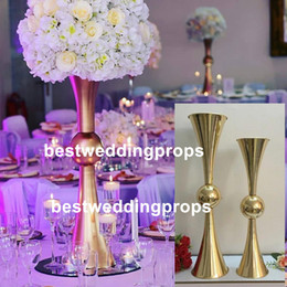 $enCountryForm.capitalKeyWord Australia - Custom Cheap Trumpet Mouth Oval Shaped Insert event Decor iron Flower Vase for Wedding best0651