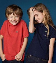 Marca Bebê Meninos Meninas t camisas Top Designer Crocodilo Bordado Polo Camisa de Manga Curta Crianças meninos Camisa Polo Crianças Camiseta em Promoção