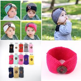 New baby hair online shopping - New Baby Girls Fashion Crochet Headband Knit Hairband With Button Decor Winter Newborn Infant Ear Warmer Head Headwrap Colors DC975