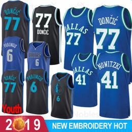 989aaff9e02a 41 Dirk   Nowitzki Dallas Jersey Mavericks 77 Luka  Doncic 6 Kristaps    Porzingis Basketball Jerseys Mesh Retro 2019 New