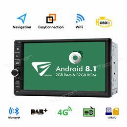 "Gps Australia - 7"" Android 8.1 32GB ROM Oreo 2 Din Car Stereo GPS Navi Radio Wifi DAB+ Bluetooth"