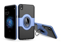 huawei cars NZ - Magnetic Ring Stand Car Holder Back Cover PC+TPU Metal Drop-Proof Shockproof Cases For Iphone X Xs Xr Samsung S10plus Note9 Huawei Mate20